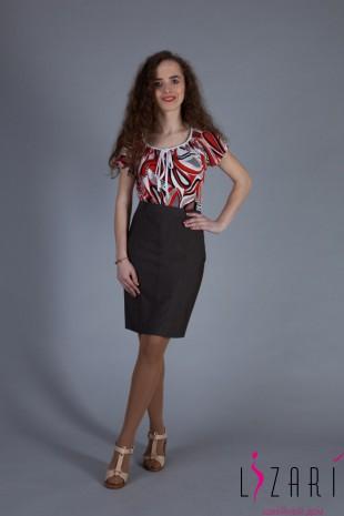 Блузка летняя со шнурком цветная - Lizari