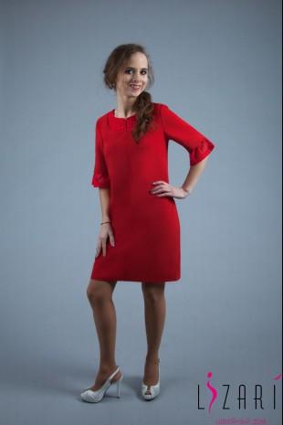 Платье красное с кружевом - Lizari