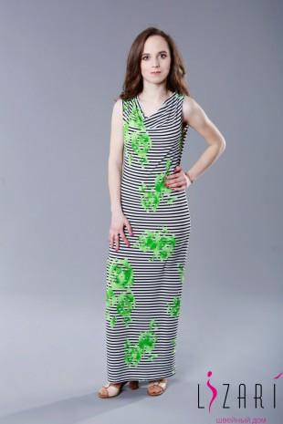 Платье длинное с водопадом - Lizari