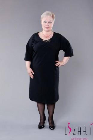 Платье чёрное с украшением - Lizari