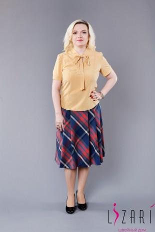 Блузка жёлтая + завязка-галстук - Lizari