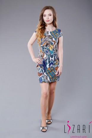 Платье цветное, приталенное - Lizari