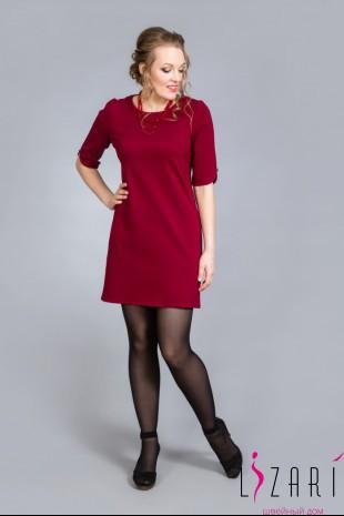 Платье бордовое, трикотажное - Lizari