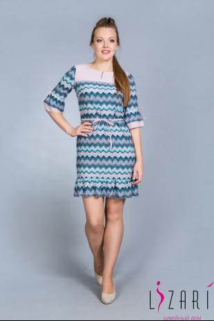 Летнее платье рис. зигзаг с отделкой - Lizari