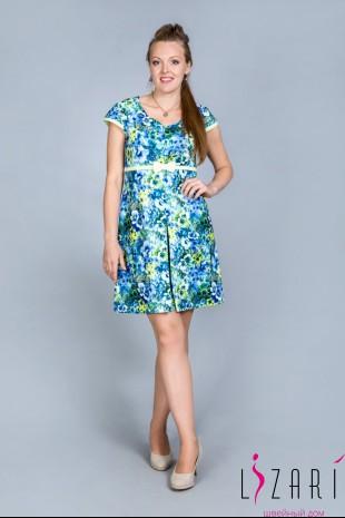 Платье цветное, складка спереди - Lizari