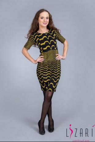 Платье рис. зелёные волны - Lizari