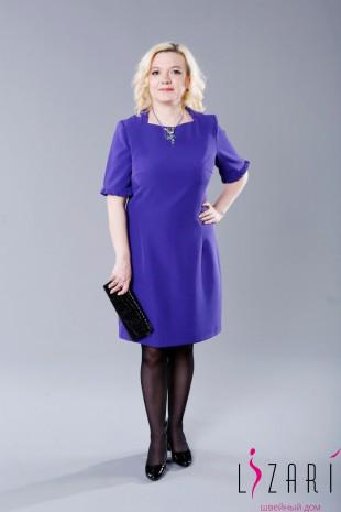 Платье фиолетовое с рюшами - Lizari