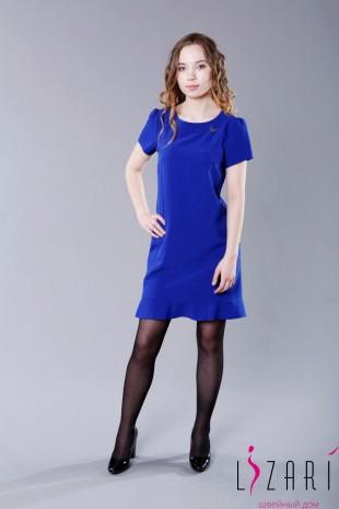 Платье с воланом и брошью - Lizari