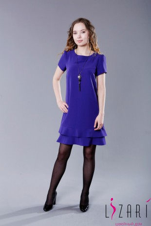 Платье с двойным воланом - Lizari